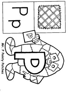 Brilliant Beginnings Preschool: Letter Person A Coloring