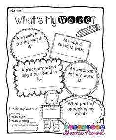 A word map is a visual organizer that promotes vocabulary