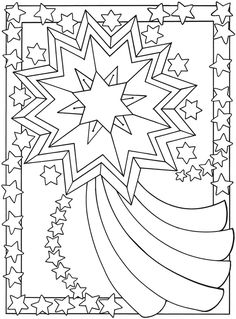 """Joy"" Holiday Coloring Page"