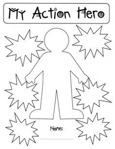 Super Hero Template for designing your very own #Superflex