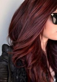 Chocolate Covered Cherry Hair Color Dark Brown Hairs Of ...