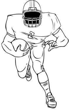 Sports Clipart Image of Black White Skull Wearing Football