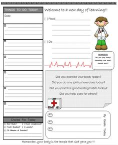 free printable weekly planner for school assignments