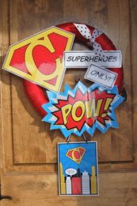 Superhero Door on Pinterest