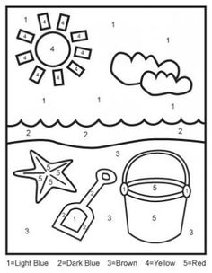 Color By Letters A, B, C, D, E {Free Kids Printable