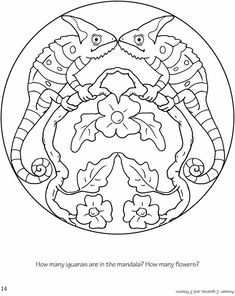 Free summer mandalas to color and print with flowers, ice