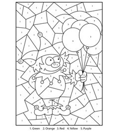 Free Printable Magical Unicorn Colour By Numbers Activity