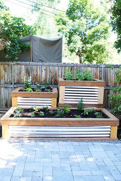 Kitchen Gardens Design Chic Little Courtyard Herb Garden