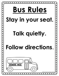 For safety and other purposes, this school bus seating