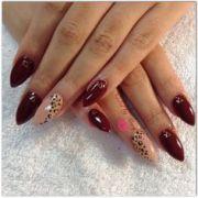 1000 ideas red cheetah nails