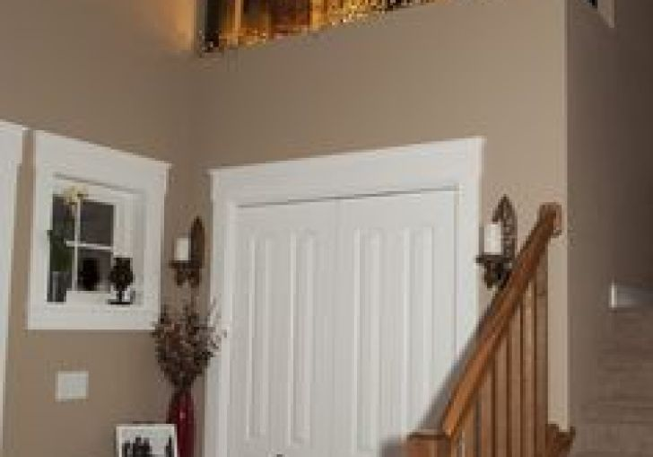 Foyer Decorating High Ceiling And Window