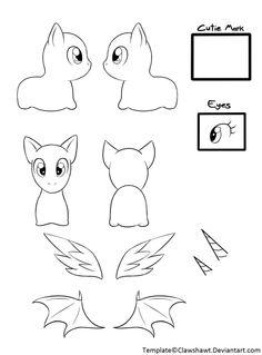 Round-head Beanie Pony Pattern by *Voodoo-Tiki on Plushie