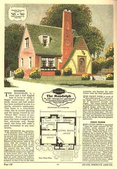 Sears Riverside English Cottage Style 1930s Kit Homes Small