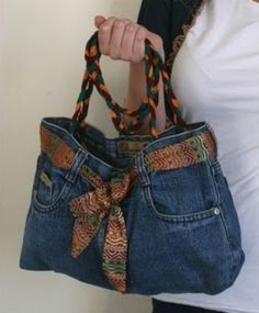 Denim bag from old l