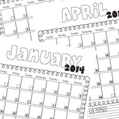 Calendar activities: Studying the months? FREE