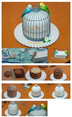 1000 images about Bird cage cakes on Pinterest  Bird