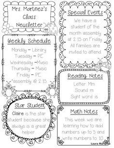 1000+ ideas about Preschool Newsletter Templates on