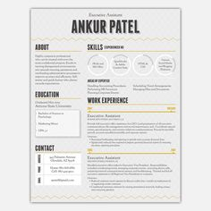 Resume, Resume design and Cv design on Pinterest