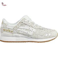 asics gel lyte iii chaussures de course pour entrainement sur route femme blanc