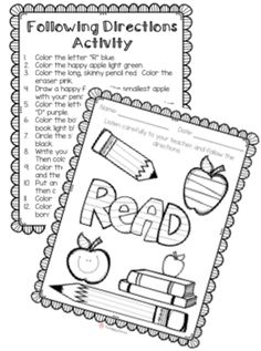 1000+ ideas about Following Directions Activities on