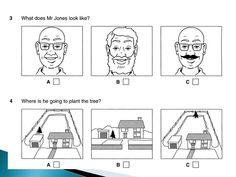 English B1.PET listening test 7.1 part 1 & answer key