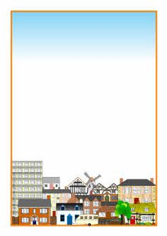 Homes Themed A4 Page Borders SB1695 SparkleBox Bouwen