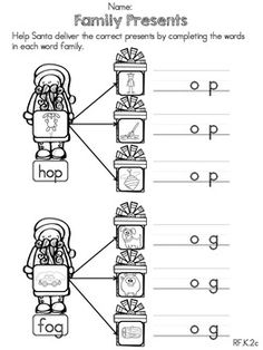 Kindergarten Family Unit on Pinterest