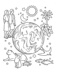 Lesson 42: The Church of Jesus Christ Is on the Earth-Choose the Right A A line drawing of a
