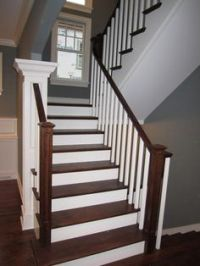 Switchback Stairs in the Model Home of Bridgewater Estates ...