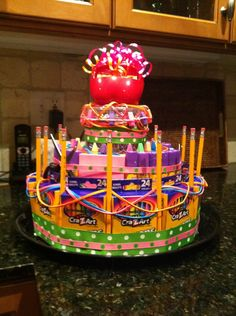1000 Images About School Supply Cakes On Pinterest