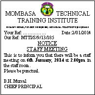 MOMBASA TECHNICAL TRAINING INSTITUTE on Pinterest by
