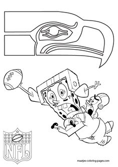 Free Seattle Seahawks Coloring page; Have kids color and