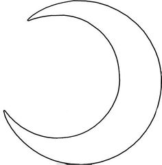 Crescent Moon pattern. Use the printable outline for