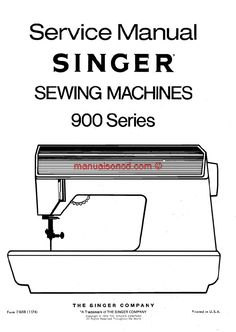 Brother VX Series Sewing Machine Service Manual. Model