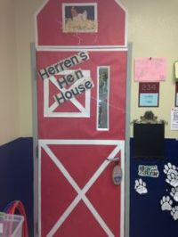 I am ready for spring... Decorating my classroom door with