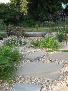 Paving Slabs And Gravel With Planting Design Judith Glover