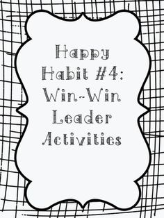 1000+ images about Habit 4: Think Win Win on Pinterest