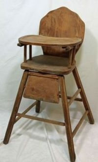 Antique convertible baby stroller- high chair with ...