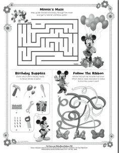 1000+ images about Mickey Mouse Printable on Pinterest