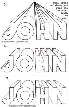 How to Draw 3-Dimensional Letters in One Point Perspective