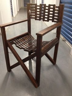 Antique Wood Mahogany Director Chair