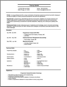 Resume outline Simple resume examples and Resume examples on Pinterest
