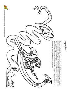 Illustration à colorier du dragon dans le film Harry