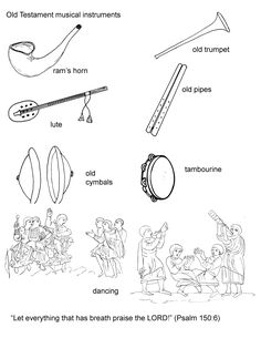 Musical instruments of bible times for an occasional