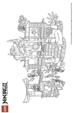 LEGO Nexo Knights Coloring Pages : Free Printable LEGO