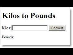 kilos to pounds Watch my video kilos to pounds to learn how to convert kilos to pounds. Convert Kilograms to Pounds (kg to lbs). Online conversion ...