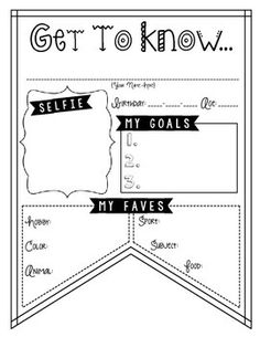 Student Questionnaire- Back to school printables for