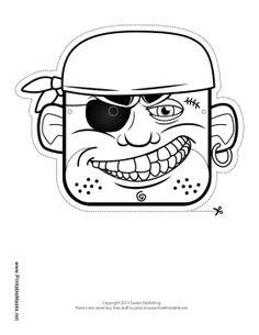 Cowboy Bandit Mask to Color Printable Mask, free to