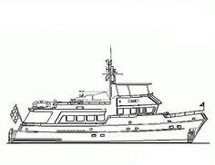 Sailboat Clipart Image: Coloring Page of a Small Sailboat