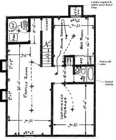 basement Floor Plan: Flip flop stairs and furnace room